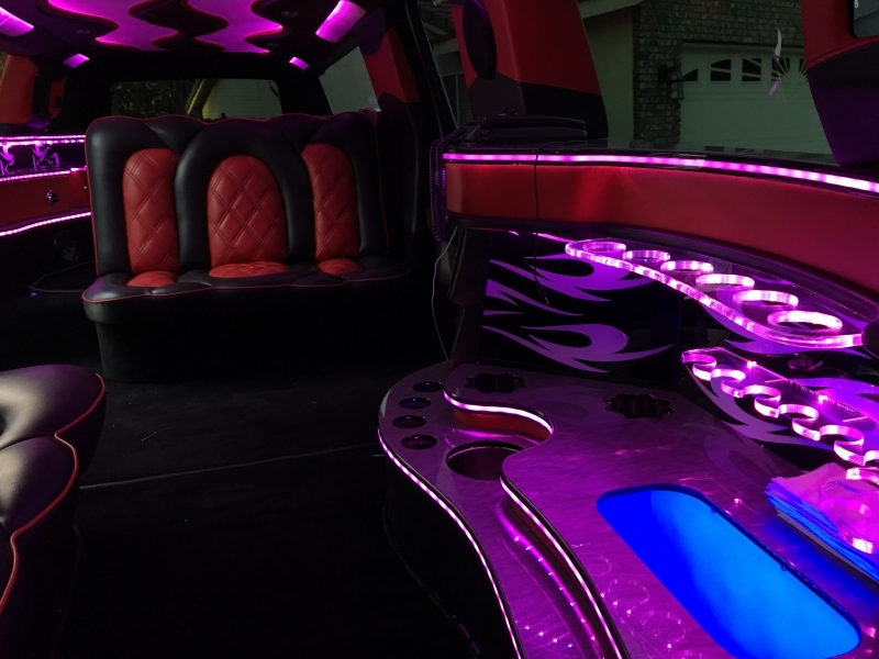 Prestige Limousine inside view4 of Cadillac limo